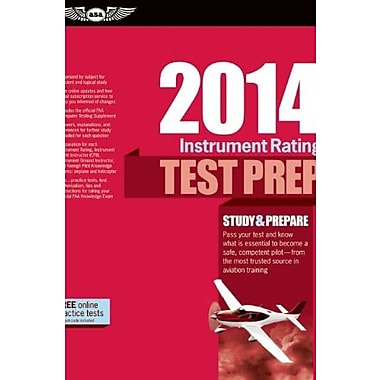 Instrument Rating Test Prep 2014, New Book, (9781560279808)