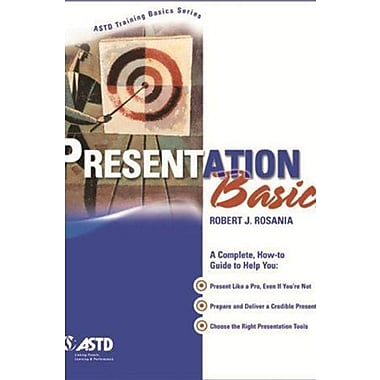 Presentation Basics (ASTD Training Basics), New Book, (9781562863470)