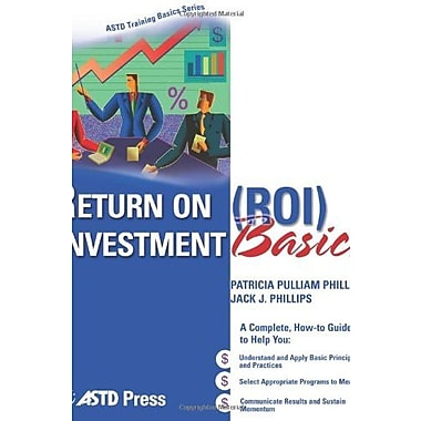 Return On Investment Basics (ASTD Training Basics), New Book, (9781562864064)