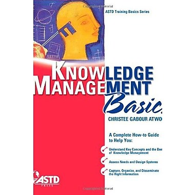 Knowledge Management Basics (ASTD Training Basics Series), New Book, (9781562865481)