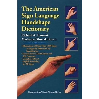 The American Sign Language Handshape Dictionary, New Book, (9781563680434)