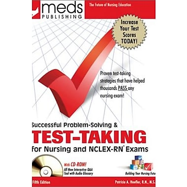 Successful Problem Solving and Test-Taking for Nursing and NCLEX-RN Exams (Book w/CD-ROM), New Book, (9781565330382)