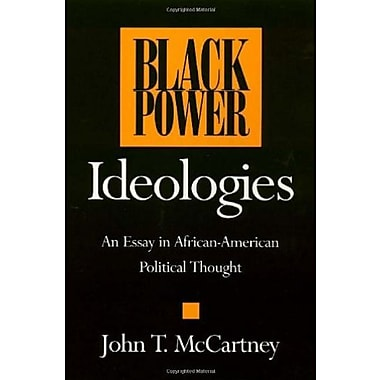 Black Power Ideologies: An Essay in African-American Political Thought, New Book, (9781566391450)
