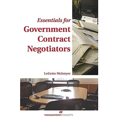 Essentials for Government Contract Negotiators, Used Book, (9781567261752)