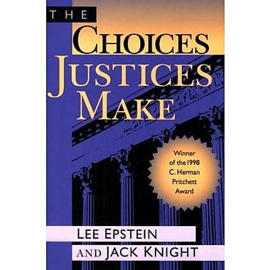 The Choices Justices Make, New Book, (9781568022260)