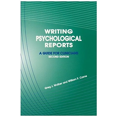 Writing Psychological Reports: A Guide for Clinicians, New Book, (9781568870762)
