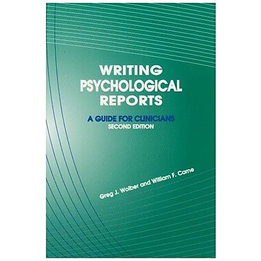 Writing Psychological Reports: A Guide for Clinicians, Used Book, (9781568870762)