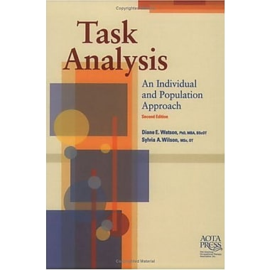 Task Analysis: An Individual and Population Approach, Second Edition, New Book, (9781569001820)