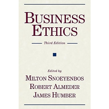 Business Ethics (Publisher: Prometheus Books)