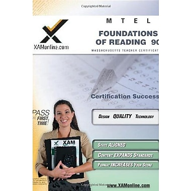 MTEL Foundations of Reading 90 Teacher Certification Test Prep Study Guide (XAM MTEL), New Book, (9781581972665)