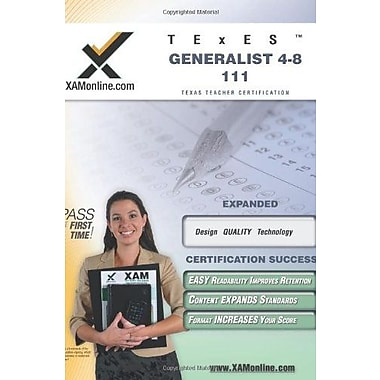 TExES Generalist 4-8 111 Teacher Certification Test Prep Study Guide (XAM TEXES), New Book, (9781581972719)