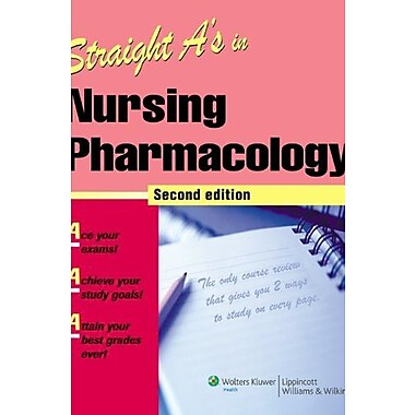 Straight A's in Nursing Pharmacology, New Book, (9781582556963)