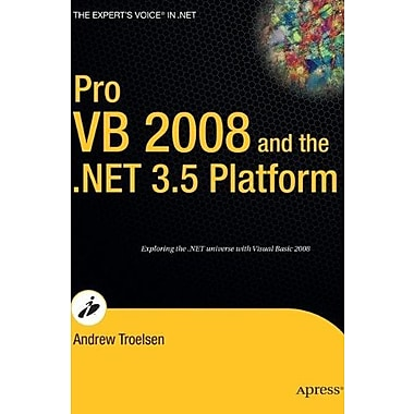 Pro VB 2008 and the .NET 3.5 Platform (Expert's Voice), New Book, (9781590598221)