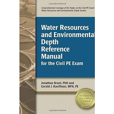 Water Resources and Environmental Depth Reference Manual for the Civil PE Exam, Used Book, (9781591260950)