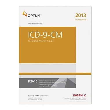 ICD-9-CM Professional for Hospitals - Volumes 1, 2, & 3--2013 Edition, New Book, (9781601516213)