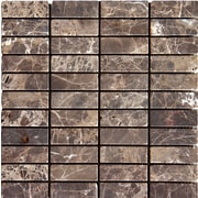 MSI Emperador Dark 1'' x 3'' Marble Mosaic Tile in Brown