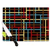 KESS InHouse Veza by Trebam Modern Lines Cutting Board; 0.5'' H x 15.75'' W x 11.5'' D