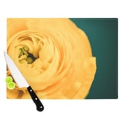 KESS InHouse Yellow & Green by Nastasia Cook Cutting Board; 0.5'' H x 11'' W x 7.5'' D