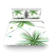 KESS InHouse Flower by Alison Coxon Light Cotton Duvet Cover; Twin