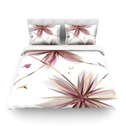 KESS InHouse Flower Aubergine by Alison Coxon Light Cotton Duvet Cover; King/California King