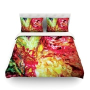 KESS InHouse Passion Flowers I Light by Mary Bateman Featherweight Duvet Cover; Queen