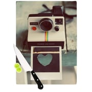 KESS InHouse Polaroid Love by Cristina Mitchell Camera Cutting Board; 0.5'' H x 15.75'' W x 11.5'' D