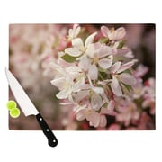 KESS InHouse Apple Blossoms by Angie Turner Flower Cutting Board; 0.5'' H x 15.75'' W x 11.5'' D