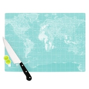 KESS InHouse Welcome to my World by Catherine Holcombe Cutting Board; 0.5'' H x 15.75'' W x 11.5'' D