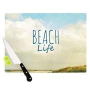 KESS InHouse Beach Life by Iris Lehnhardt Beach Cutting Board; 0.5'' H x 15.75'' W x 11.5'' D