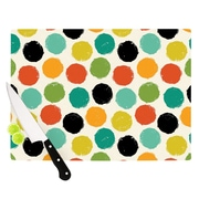 KESS InHouse Retro Dots Repeat by Daisy Beatrice Cutting Board; 0.5'' H x 15.75'' W x 11.5'' D
