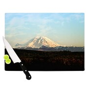 KESS InHouse Mt. Rainier by Sylvia Cook Mountain Photo Cutting Board; 0.5'' H x 15.75'' W x 11.5'' D