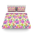 KESS InHouse My Birds and My Flowers by Julia Grifol Light Cotton Duvet Cover; King/California King