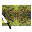 KESS InHouse Yellow Jacket by Nikposium Abstract Cutting Board; 0.5'' H x 11'' W x 7.5'' D