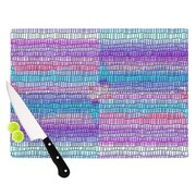 KESS InHouse Drip Dye Strid by Nina May Abstract Cutting Board; 0.5'' H x 15.75'' W x 11.5'' D