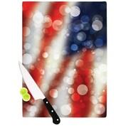 KESS InHouse Patriot America Bokeh Cutting Board; 0.5'' H x 15.75'' W x 11.5'' D