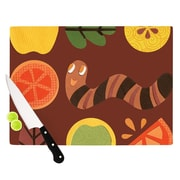 KESS InHouse Autumn Repeat by Jane Smith Bugs Cutting Board; 0.5'' H x 15.75'' W x 11.5'' D