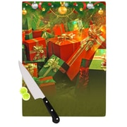KESS InHouse Wrapped in Cheer by Snap Studio Presents Cutting Board; 0.5'' H x 15.75'' W x 11.5'' D