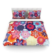 KESS InHouse Patchwork Flowers by Louise Machado Featherweight Duvet Cover; Queen
