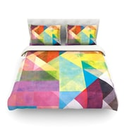 KESS InHouse Color Blocking II by Mareike Boehmer Rainbow Abstract Light Cotton Duvet Cover; Queen