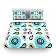 KESS InHouse Paisley Candy by Nina May Flower Cotton Duvet Cover; Queen