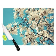 KESS InHouse White Magnolias by Sylvia Cook Cutting Board; 0.5'' H x 11'' W x 7.5'' D
