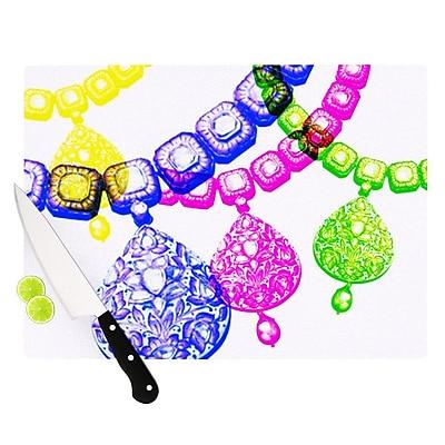 KESS InHouse Precious by Sreetama Ray Jewelry Cutting Board; 0.5'' H x 15.75'' W x 11.5'' D WYF078277490592
