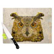 KESS InHouse Abstract Owl by Ancello Cutting Board; 0.5'' H x 11'' W x 7.5'' D