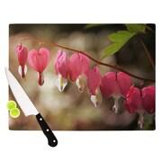 KESS InHouse Bleeding Hearts by Angie Turner Flower Cutting Board; 0.5'' H x 15.75'' W x 11.5'' D