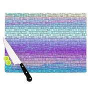 KESS InHouse Drip Dye Cool Strid by Nina May Geometry Cutting Board; 0.5'' H x 15.75'' W x 11.5'' D