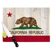 KESS InHouse California Flag Wood by Bruce Stanfield Cutting Board; 0.5'' H x 15.75'' W x 11.5'' D