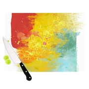 KESS InHouse Medley by Oriana Cordero Colorful Paint Cutting Board; 0.5'' H x 11'' W x 7.5'' D