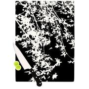KESS InHouse White on Black by Ingrid Beddoes Cutting Board; 0.5'' H x 11'' W x 7.5'' D