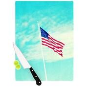 KESS InHouse USA Colors by Robin Dickinson Flag Cutting Board; 0.5'' H x 11'' W x 7.5'' D