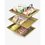 Cal-Mil Wire 2 Tier Bamboo Tray Rack